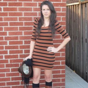 Forever 21 Striped Stretchy Dress - Size Small